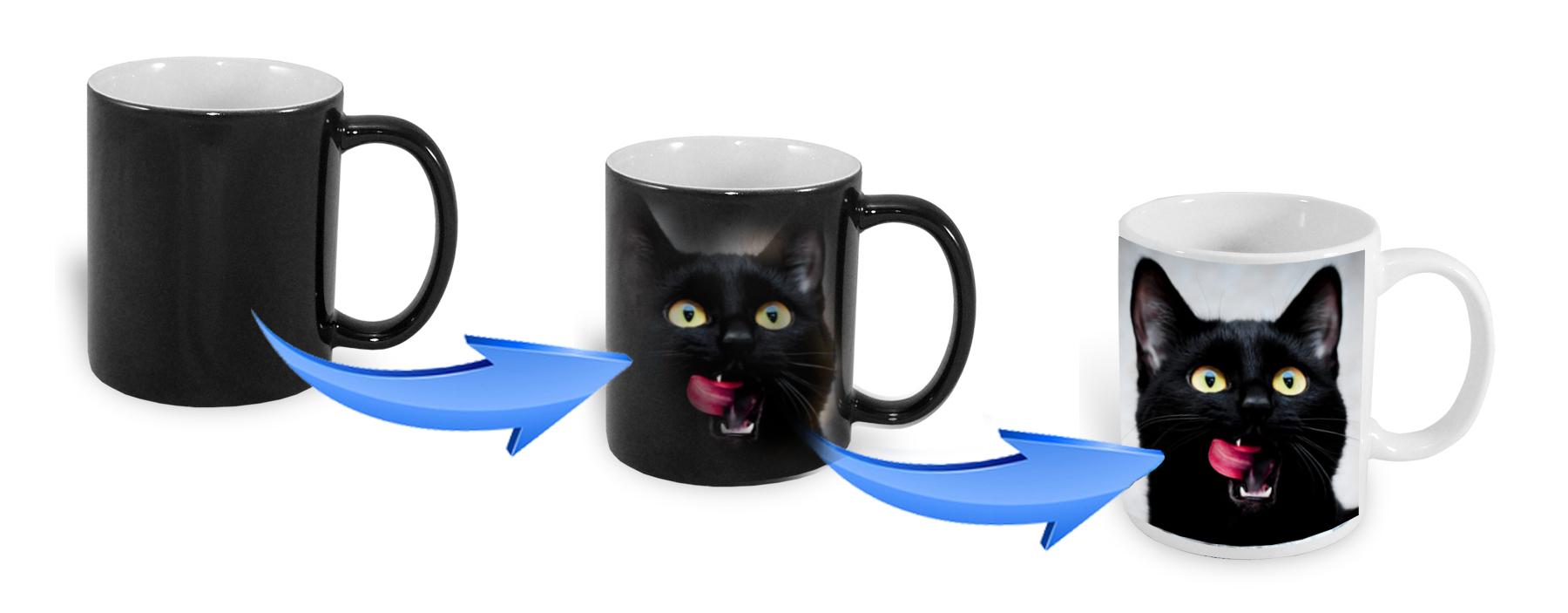 kubek magiczny z kotkiem